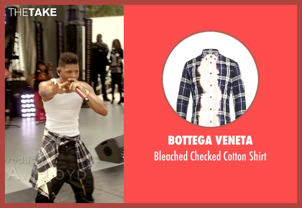 Bottega Veneta blue shirt from Empire seen with Hakeem Lyon (Bryshere Y. Gray)