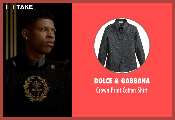Dolce & Gabbana blue shirt from Empire seen with Hakeem Lyon (Bryshere Y. Gray)