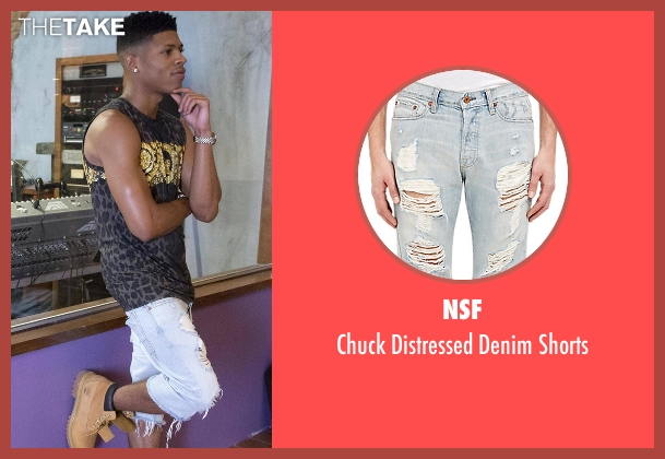 NSF blue shorts from Empire seen with Hakeem Lyon (Bryshere Y. Gray)