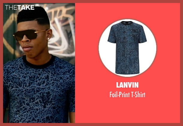 Lanvin blue t-shirt from Empire seen with Hakeem Lyon (Bryshere Y. Gray)