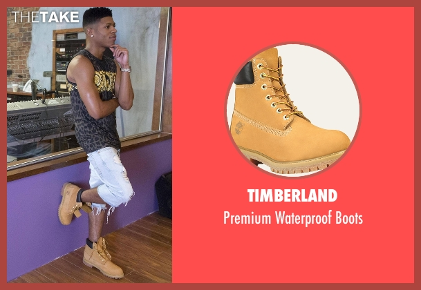 Timberland brown boots from Empire seen with Hakeem Lyon (Bryshere Y. Gray)