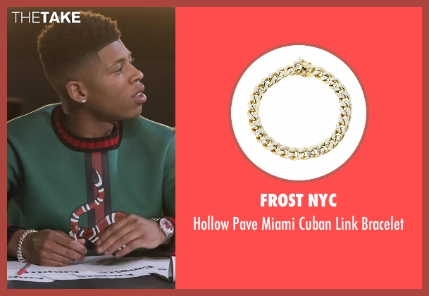 Frost NYC gold bracelet from Empire seen with Hakeem Lyon (Bryshere Y. Gray)