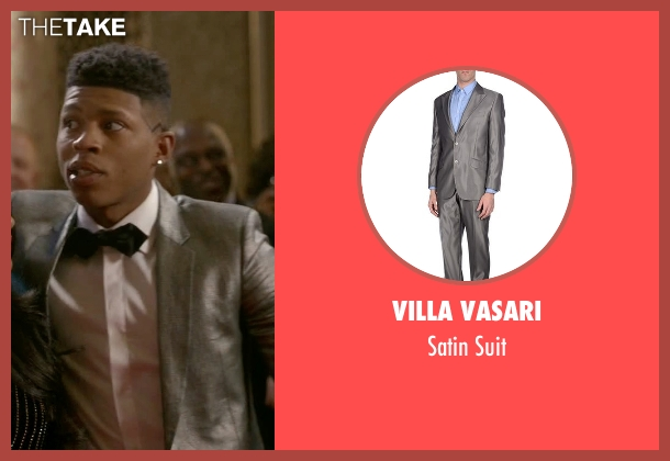 Villa Vasari gray suit from Empire seen with Hakeem Lyon (Bryshere Y. Gray)