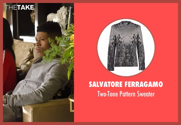 Salvatore Ferragamo gray sweater from Empire seen with Hakeem Lyon (Bryshere Y. Gray)