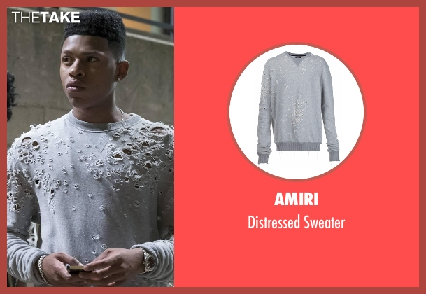 Amiri gray sweater from Empire seen with Hakeem Lyon (Bryshere Y. Gray)