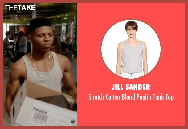 Jill Sander gray top from Empire seen with Hakeem Lyon (Bryshere Y. Gray)