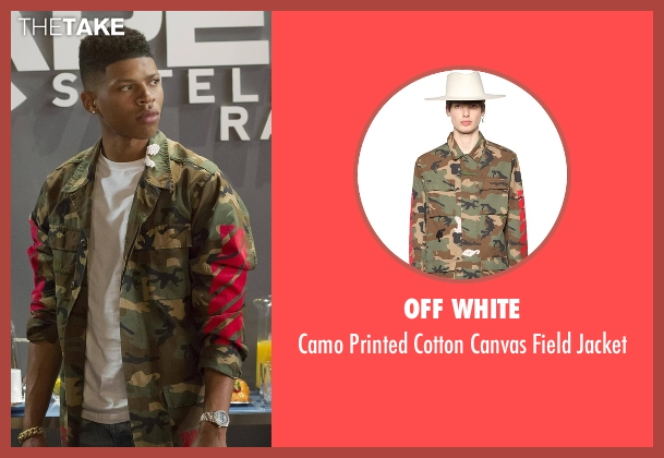 Off White green jacket from Empire seen with Hakeem Lyon (Bryshere Y. Gray)