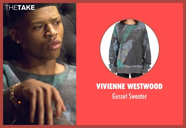 Vivienne Westwood green sweater from Empire seen with Hakeem Lyon (Bryshere Y. Gray)