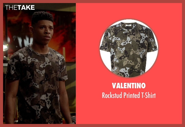 Valentino green t-shirt from Empire seen with Hakeem Lyon (Bryshere Y. Gray)