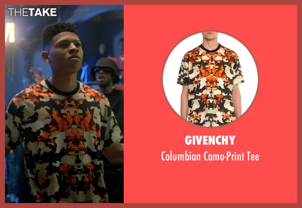 Givenchy orange tee from Empire seen with Hakeem Lyon (Bryshere Y. Gray)