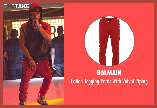 Balmain red piping from Empire seen with Hakeem Lyon (Bryshere Y. Gray)