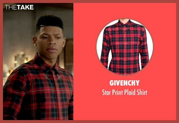 Givenchy red shirt from Empire seen with Hakeem Lyon (Bryshere Y. Gray)