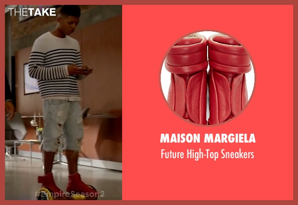 Maison Margiela red sneakers from Empire seen with Hakeem Lyon (Bryshere Y. Gray)