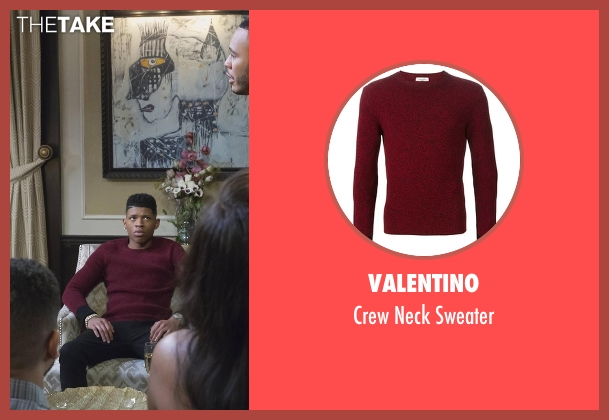 Valentino red sweater from Empire seen with Hakeem Lyon (Bryshere Y. Gray)