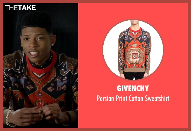 Givenchy red sweatshirt from Empire seen with Hakeem Lyon (Bryshere Y. Gray)