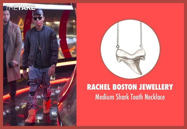 Rachel Boston Jewellery silver necklace from Empire seen with Hakeem Lyon (Bryshere Y. Gray)
