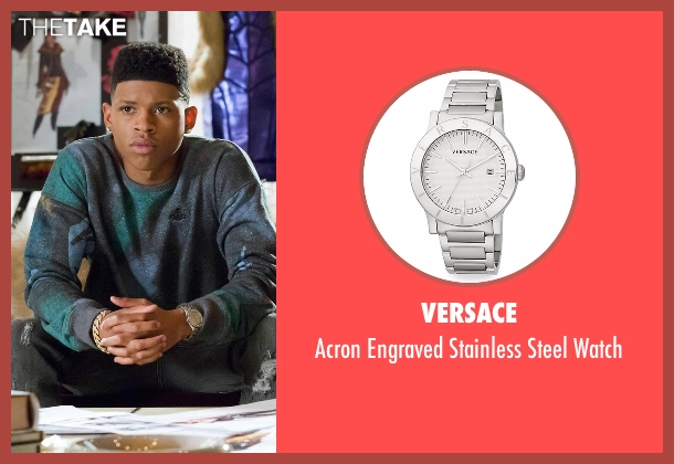 Versace silver watch from Empire seen with Hakeem Lyon (Bryshere Y. Gray)