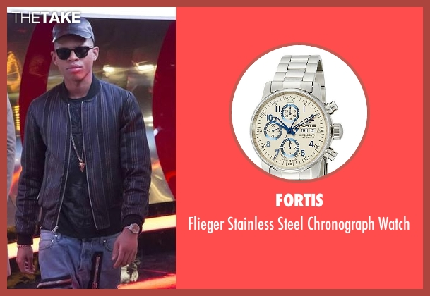 Fortis  silver watch from Empire seen with Hakeem Lyon (Bryshere Y. Gray)