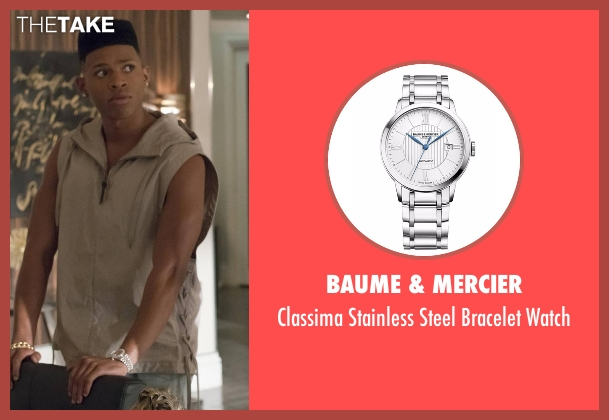 Baume & Mercier silver watch from Empire seen with Hakeem Lyon (Bryshere Y. Gray)