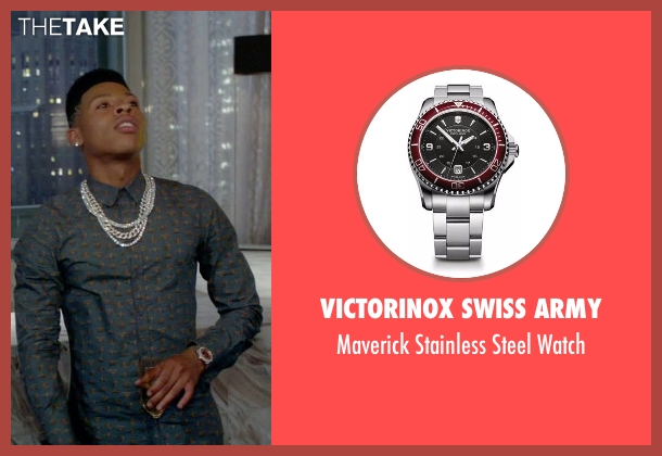 Victorinox Swiss Army silver watch from Empire seen with Hakeem Lyon (Bryshere Y. Gray)