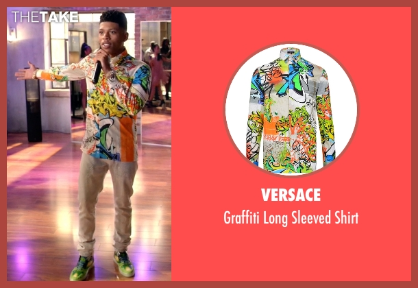 Versace white shirt from Empire seen with Hakeem Lyon (Bryshere Y. Gray)