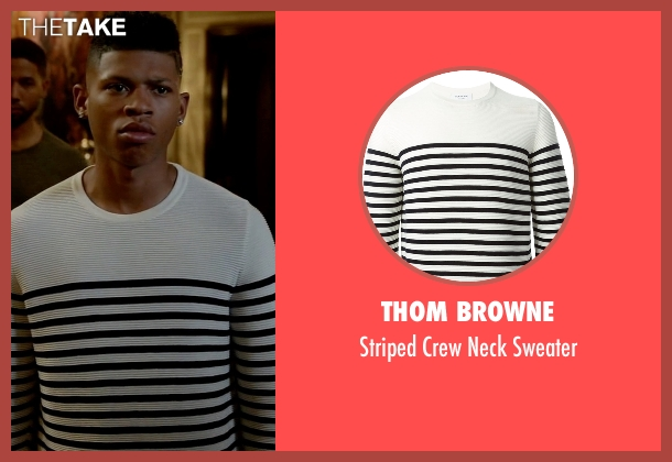 Thom Browne white sweater from Empire seen with Hakeem Lyon (Bryshere Y. Gray)