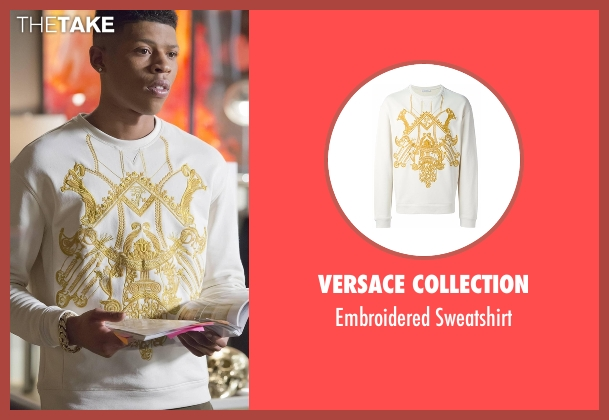 Versace Collection white sweatshirt from Empire seen with Hakeem Lyon (Bryshere Y. Gray)