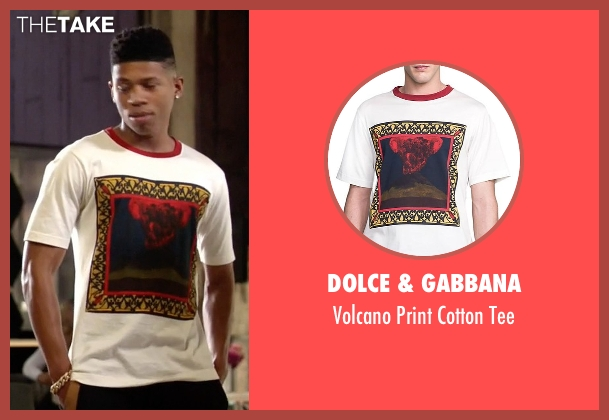 Dolce & Gabbana white tee from Empire seen with Hakeem Lyon (Bryshere Y. Gray)