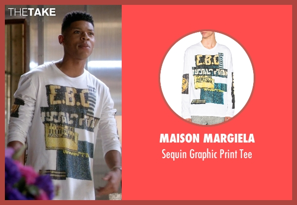 Maison Margiela white tee from Empire seen with Hakeem Lyon (Bryshere Y. Gray)
