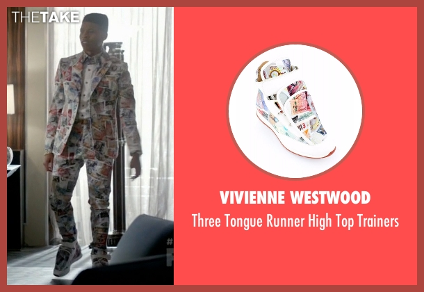 Vivienne Westwood white trainers from Empire seen with Hakeem Lyon (Bryshere Y. Gray)