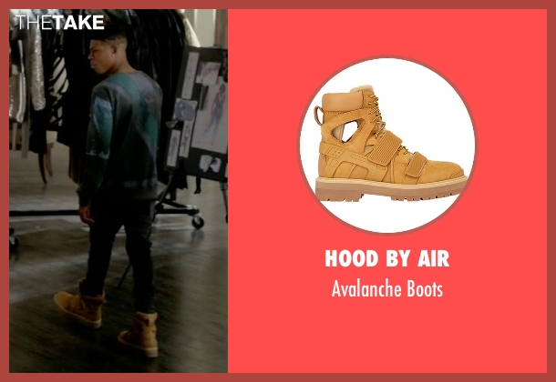 Hood By Air yellow boots from Empire seen with Hakeem Lyon (Bryshere Y. Gray)
