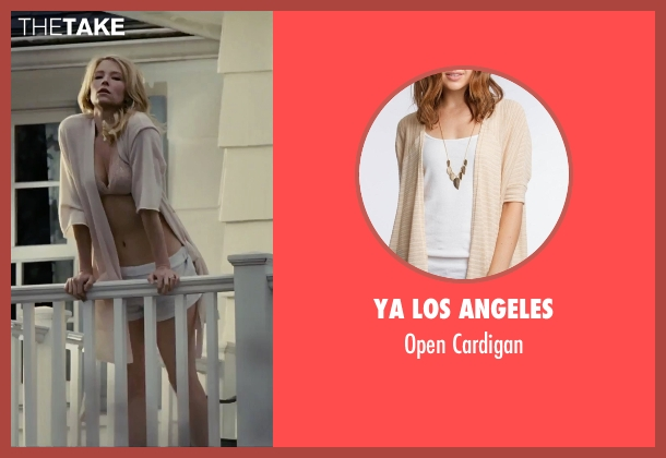 Ya Los Angeles beige cardigan from The Girl on the Train seen with Haley Bennett (Megan Hipwell)