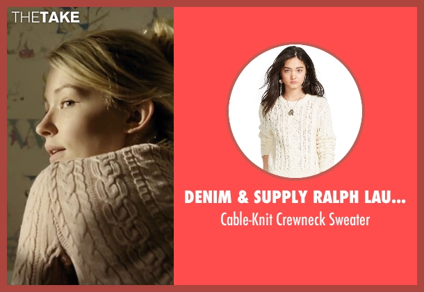 Denim & Supply Ralph Lauren beige sweater from The Girl on the Train seen with Haley Bennett (Megan Hipwell)