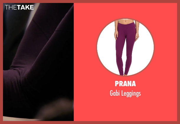 Prana purple leggings from The Girl on the Train seen with Haley Bennett (Megan Hipwell)