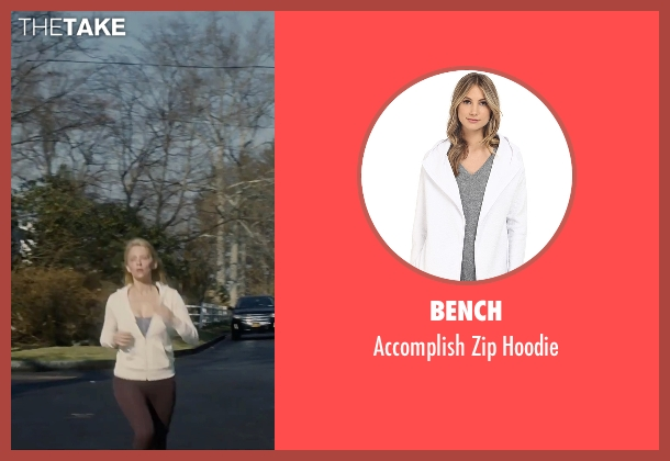 Bench white hoodie from The Girl on the Train seen with Haley Bennett (Megan Hipwell)