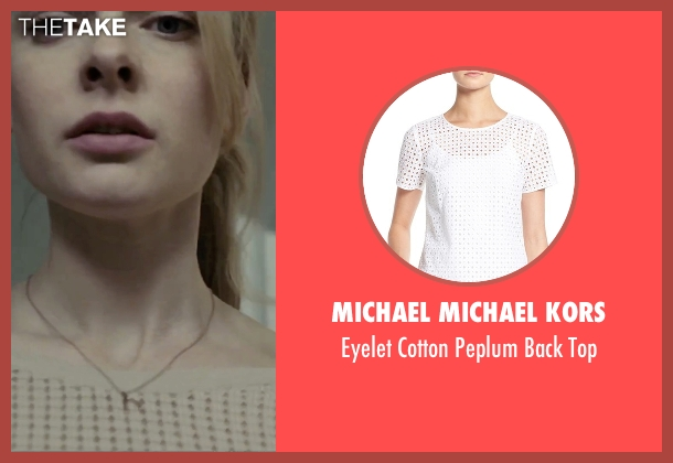 Michael Michael Kors white top from The Girl on the Train seen with Haley Bennett (Megan Hipwell)