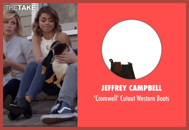 Jeffrey Campbell black boots from Modern Family seen with Haley Dunphy (Sarah Hyland)