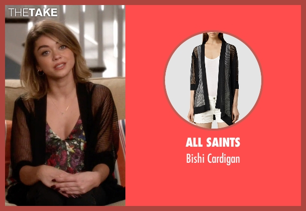 All Saints black cardigan from Modern Family seen with Haley Dunphy (Sarah Hyland)