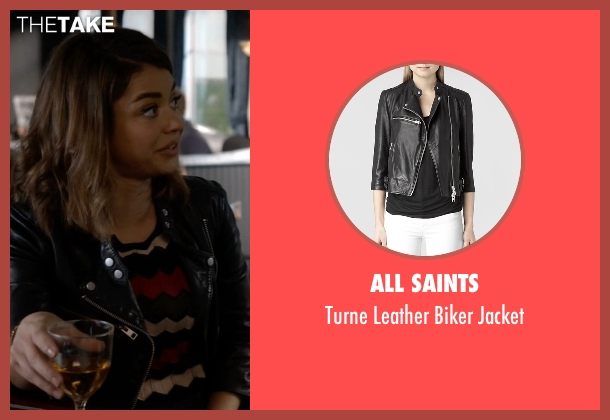 All Saints black jacket from Modern Family seen with Haley Dunphy (Sarah Hyland)