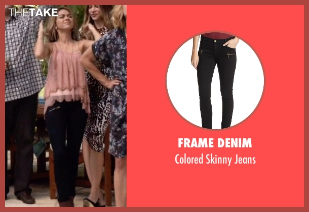 Frame Denim black jeans from Modern Family seen with Haley Dunphy (Sarah Hyland)