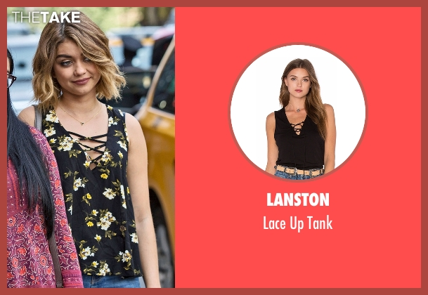 Lanston black tank from Modern Family seen with Haley Dunphy (Sarah Hyland)
