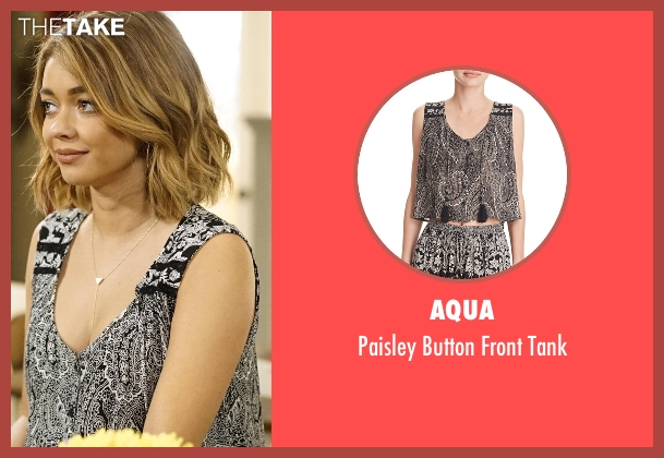 Aqua  black tank from Modern Family seen with Haley Dunphy (Sarah Hyland)
