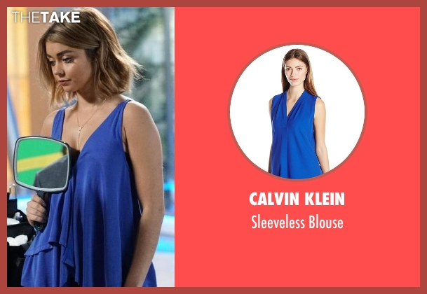 Calvin Klein  blue blouse from Modern Family seen with Haley Dunphy (Sarah Hyland)