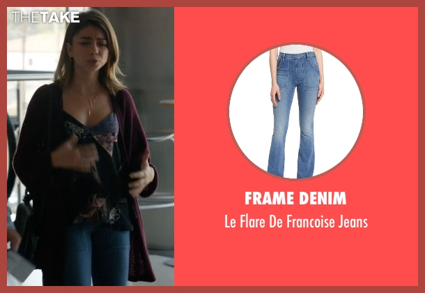 Frame Denim blue jeans from Modern Family seen with Haley Dunphy (Sarah Hyland)