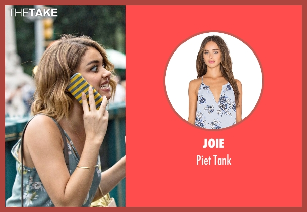 Joie blue tank from Modern Family seen with Haley Dunphy (Sarah Hyland)