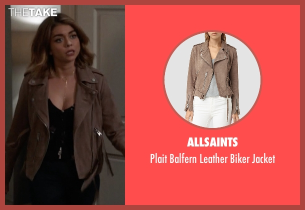 AllSaints brown jacket from Modern Family seen with Haley Dunphy (Sarah Hyland)