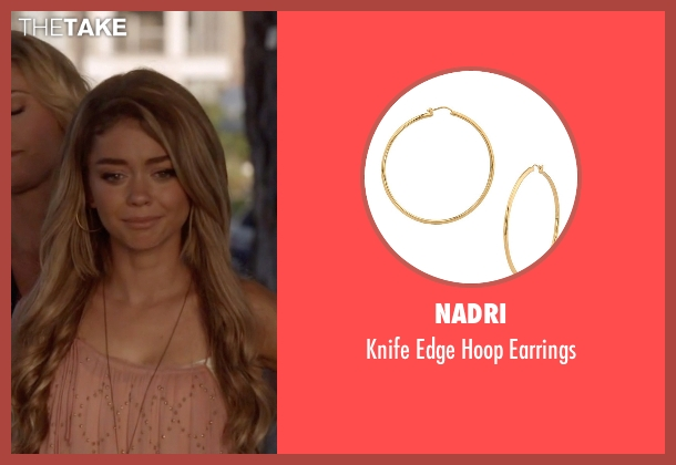 Nadri gold earrings from Modern Family seen with Haley Dunphy (Sarah Hyland)