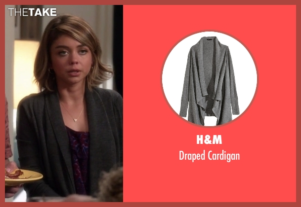 H&M gray cardigan from Modern Family seen with Haley Dunphy (Sarah Hyland)