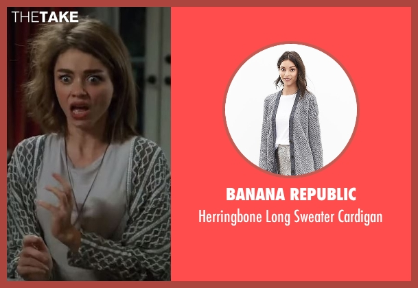 Banana Republic gray cardigan from Modern Family seen with Haley Dunphy (Sarah Hyland)
