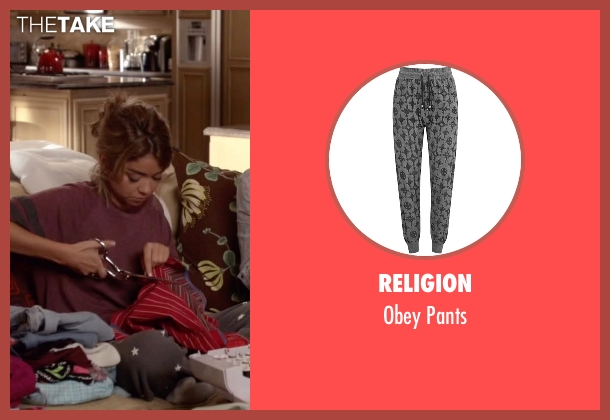 Religion gray pants from Modern Family seen with Haley Dunphy (Sarah Hyland)
